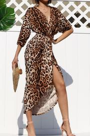 Jalia Leopard Venetian Dress