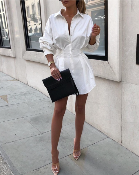 Ludmila Long Sleeve Shirt Dress