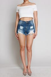 Bianca High Waisted Distressed Shorts